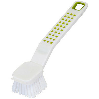 Addis Deluxe Dish Brush White and Green Non- Slip Grip 514649
