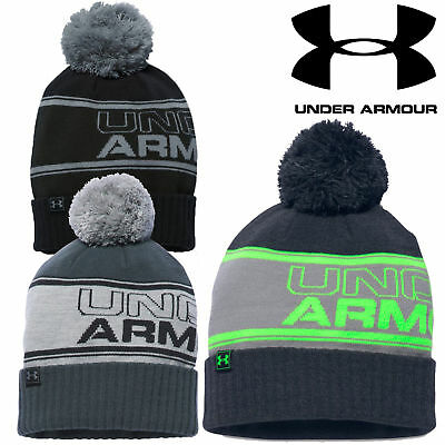 Under Armour 2016 Men's UA Retro Golf Pom Pom Bobble Beanie Winter Wooly Hat