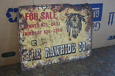 Vintage The Rawhide Realty Real Estate Agency Sign