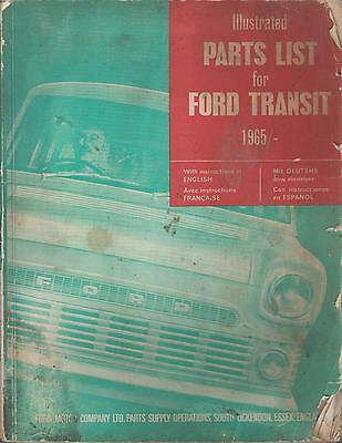 Ford Transit Mk1 Orig. Factory Parts Catalogue ( English French German Spanish)