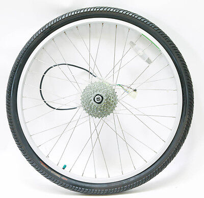 "Alex / Currie Electro Drive Electric Motor Rear E-Bike 26"" Wheel Tire 36h 8s NEW"