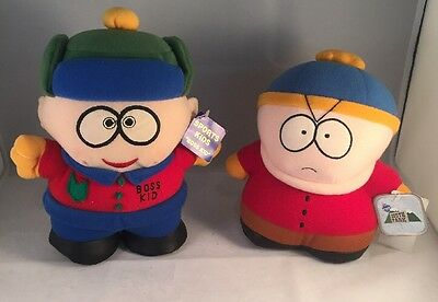 """South Park 8"""" Plush Scared CARTMAN Soft Toy 1998 with tags. Collectable."""