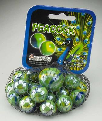 NEW Mega Marbles Peacock Marbles 77757