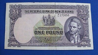 The Reserve Bank Of New Zealand 1 Pound Currency Note