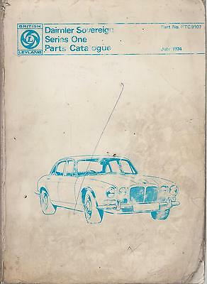 Daimler Sovereign Series 1 Saloon 1969-73 Original Factory Spare Parts Catalogue