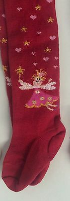 Girls' Tights by MP - Red - princess fairy design