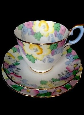 �� Stunning Vintage Trio from Crown Staffordshire Hand Finished F14910