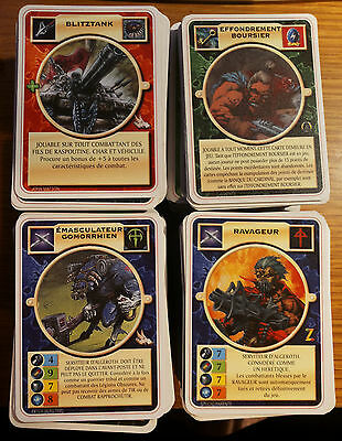 Doomtrooper Huge Lot In French Language 600+ Cards!! Mutant Chronicles