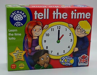 Orchard Toys TELL THE TIME 2-4 players Ages 5-9