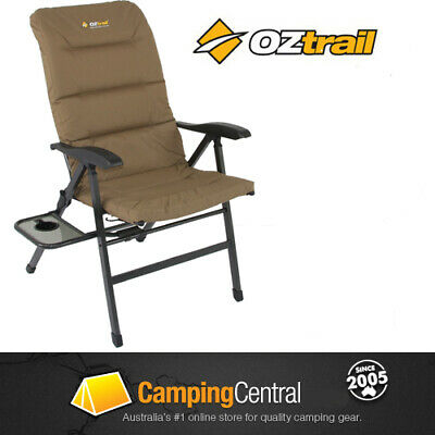 Oztrail Emperor 8 Chair Reclining Recliner Arm Deluxe Picnic Camping Emporer