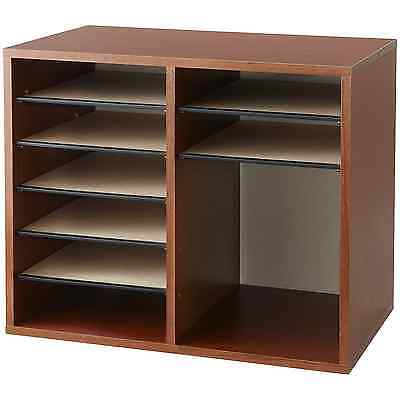 Safco Products 9420CY Wood Adjustable Literature Organizer, 12 Compartment, Cher