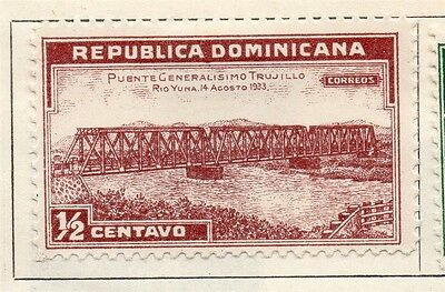Dominican Republic 1934 Early Issue Fine Mint Hinged 1/2c. 104015