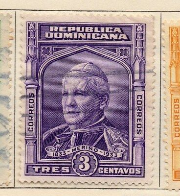 Dominican Republic 1933 Early Issue Fine Used 3c. 104082