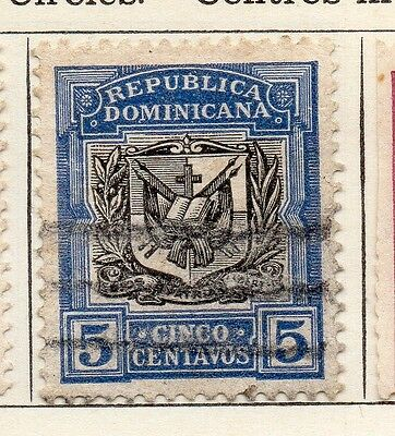 Dominican Republic 1907 Early Issue Fine Used 5c. 104087
