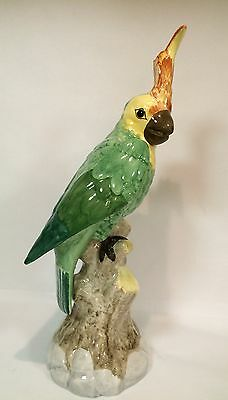 """Large 14"""" Italian Parrot Cockatoo Porcelain Figurine by Chelsea House"""