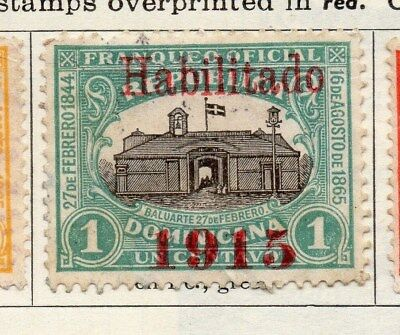 Dominican Republic 1915 Early Issue Fine Used 1c. Optd 104101
