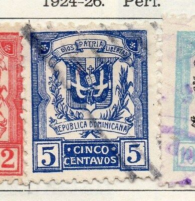 Dominican Republic 1924-26 Early Issue Fine Used 5c. 104132