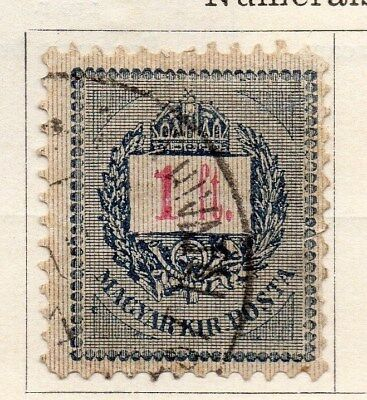 Hungary 1887 Early Issue Fine Used 1f. 104441