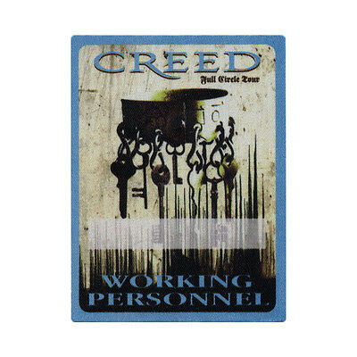 Creed Blue Working 2010 Backstage Pass