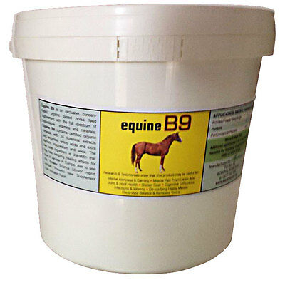 NEW Equine B9 supplement for alertness & calming of your competition horse