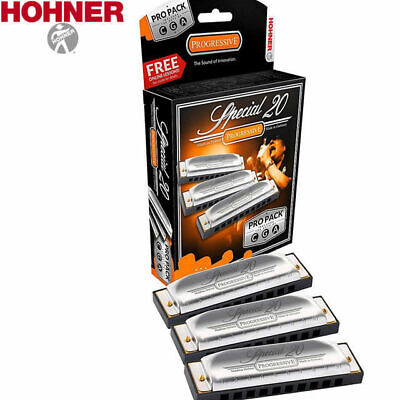 Hohner Special 20 Harmonica Pro Pack Key C G A 560BOX3 Diatonic Harp