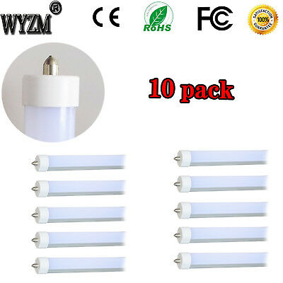 8FT 40W T8 T12 LED Tube Light Bulb Fluorescent Replace Double End Power 5500K