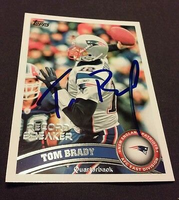 TOM BRADY SIGNED AUTO PATRIOTS Future HALL of FAMER Private Collection