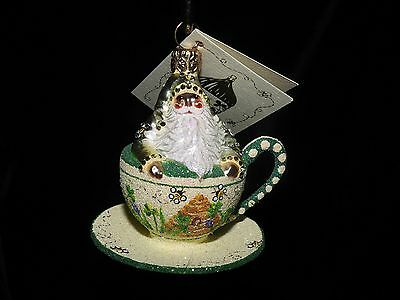 Patricia Breen Exclusive Jeweled Tea For Two TeaCup Bees & Clover