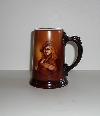 Porcelain  Hand Painted Portrait Tankard   Signed Guthman