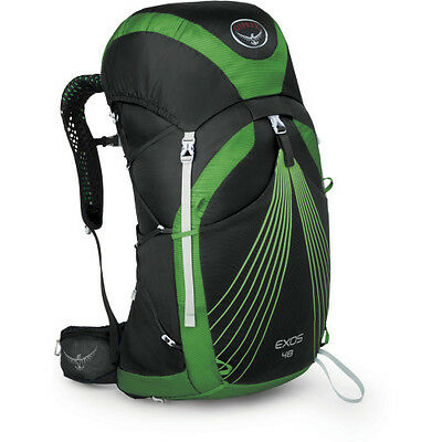 Osprey Exos 48 Unisex Rucksack Hiking - Basalt Black All Sizes