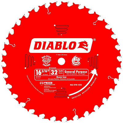 "16-5/16"" x 32 Tooth Diablo Beam Cutting Blade Freud D1632X New"