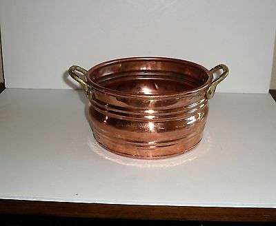 Vintage French Country Style Planter Pot Hand Made Copper/brass