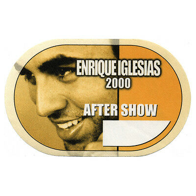 Enrique Iglesias Yellow Aftershow 2000 Backstage Pass