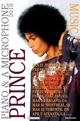 PRINCE 2016 Box Office CONCERT POSTER  beautiful!