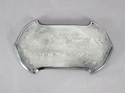 ANTIQUE SILVER PLATED COFFIN PLATE c.1881~ 1 YEAR OLD CHILD ~ CASKET PLAQUE