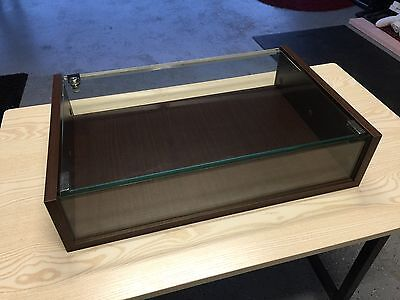 Jewellery Display Case with Lockable Glass Top