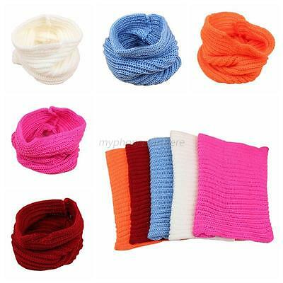 Baby Kid Autumn Winter Warm Knit Scarf Boy Girl Crochet Knit Scarves Candy Color