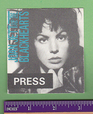 Joan Jett And The Blackhearts Concert Tour Unused Backstage Pass Runaways