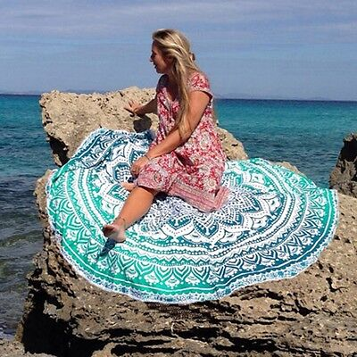 Round Mandala Hippie Indian Tapestry Boho Beach Throw Towel Yoga Mat CO99