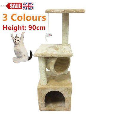 New Cat Kitten Tree Tower Post Toy Condo Scratch Post Pet House for Play