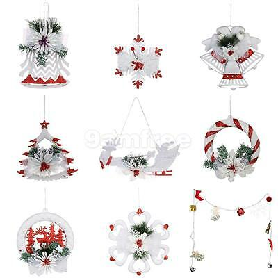 9x Snowflake Christmas Tree Ornaments Party Home Hanging Decoration Wall Decor