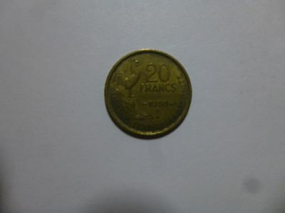 Old France Coin - 1950 B 20 Francs - Circulated