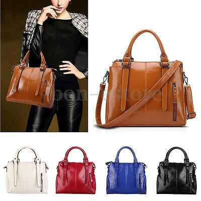 Women Leather Handbag Shoulder Bag Tote Messenger Crossbody Ladies Satchel Purse