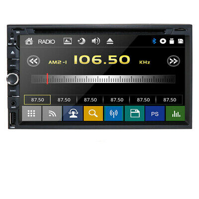 "Hizpo Head-Double Din 7"" Car Stereo Radio DVD Player Ipod Bluetooth TV Mic Mp3"
