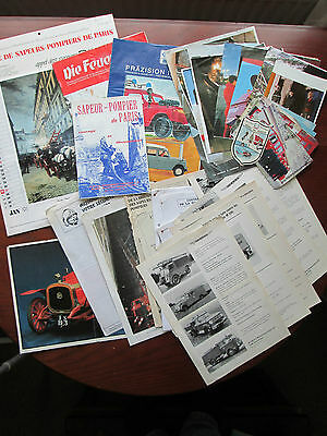 Collection Fire Brigade Service Magazine Booklet Picture Postcard Calendar Lot