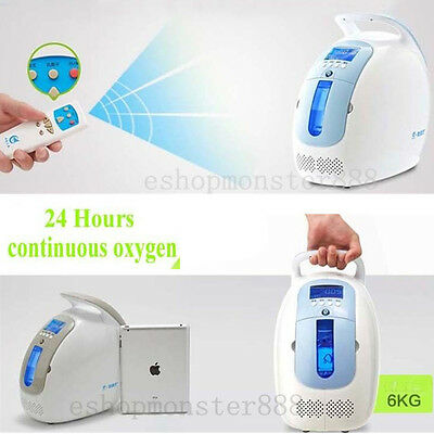 CE 24hrs Portable Oxygen Concentrator O2 OX Generator OX purity 30-90%,1L-5L/min