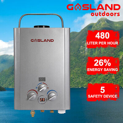 GASLAND Gas Hot Water Heater Outdoor Portable LPG Camping Shower Instant RV