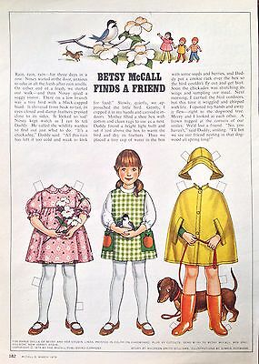 Betsy McCall Mag. Paper Doll, Betsy McCall Finds a Friend, March 1979