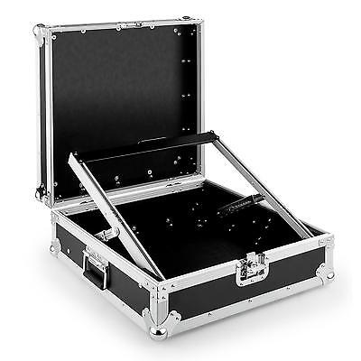 "DJ PA Malle de transport rack 19"" 7U 6U 2U flight case universel noir & argent"