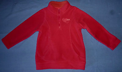°°Sweat Rose-Polaire Zippe- Marque Nky-Vetement Fille-Taille 4 Ans